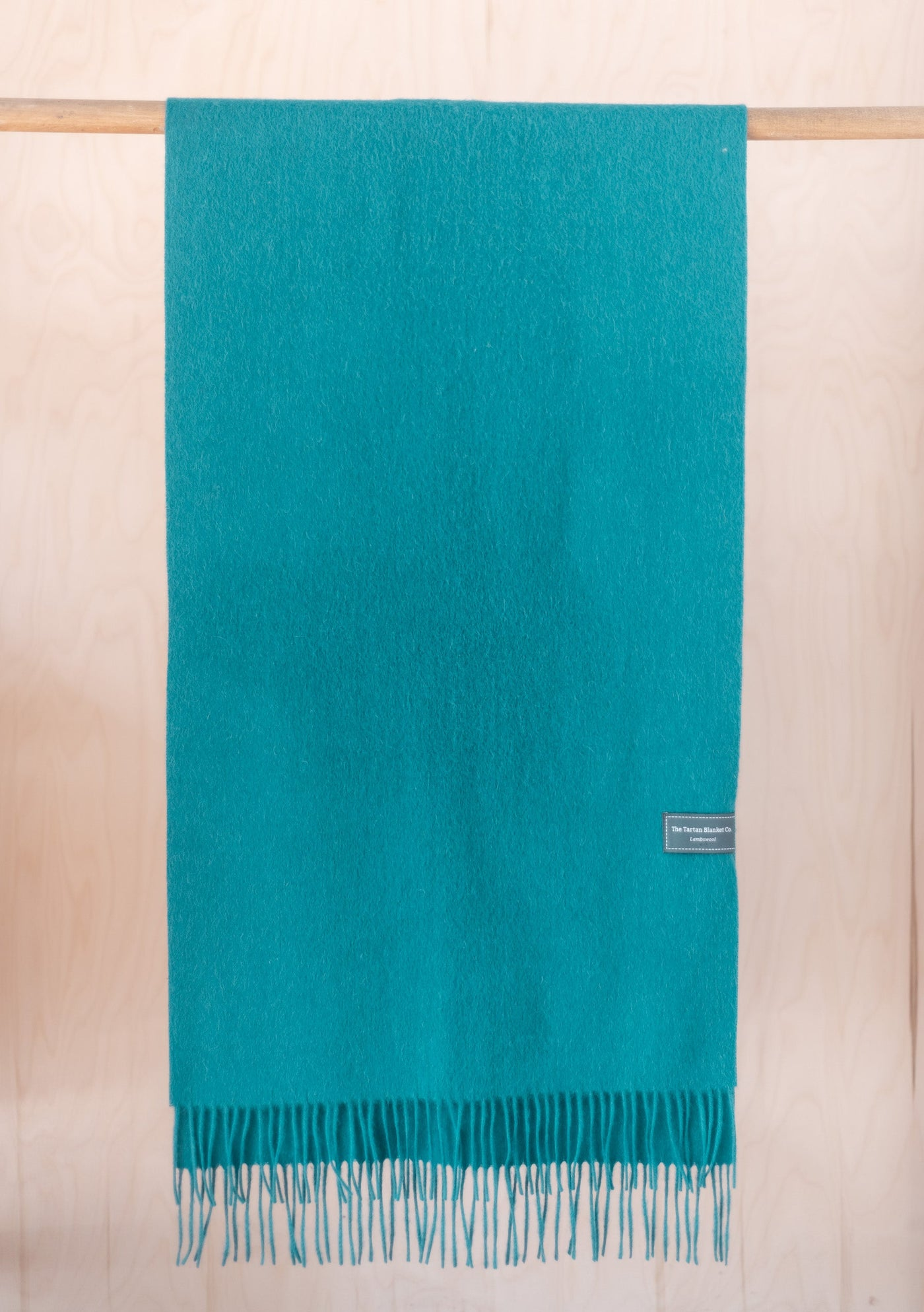 Lambswool Oversized Scarf in Jewelled Teal
