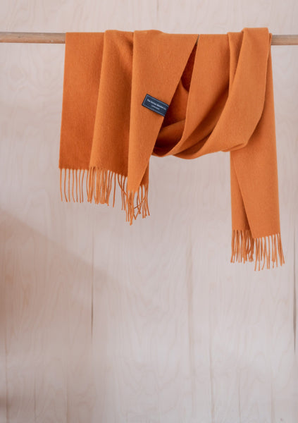 Lambswool Oversized Scarf in Warm Ochre