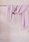 Lambswool Blanket Scarf in Dusky Pink Gingham