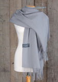 Lambswool Blanket Scarf in Quiet Grey