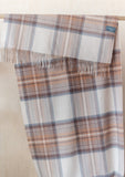 Lambswool Blanket Scarf in Stewart Natural Dress Tartan