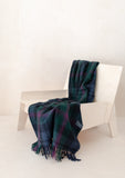 Recycled Wool Knee Blanket in Baird Tartan