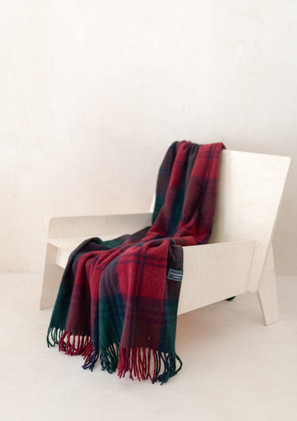 Recycled Wool Knee Blanket in Lindsay Tartan