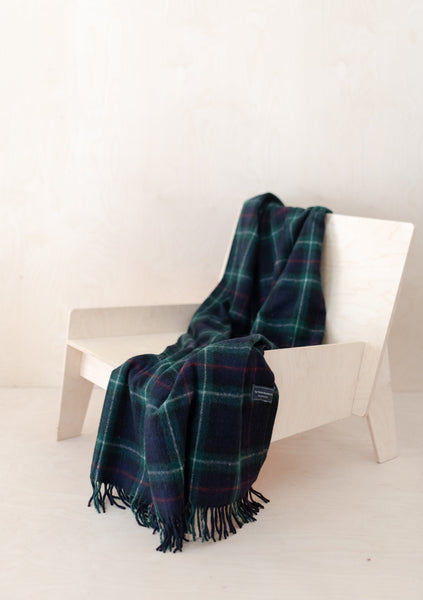 Recycled Wool Knee Blanket in Mackenzie Tartan