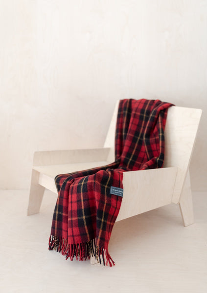 Recycled Wool Knee Blanket in Wallace Tartan