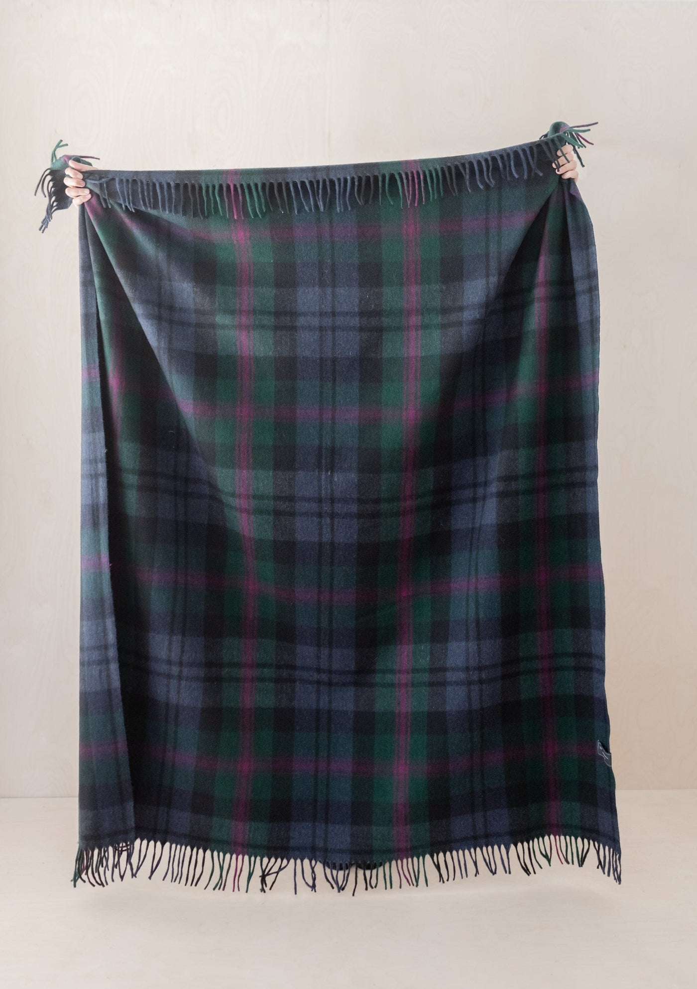 Recycled Wool Blanket in Baird Tartan