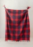 Recycled Wool Blanket in Fraser Red Tartan