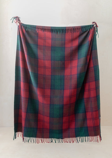 Recycled Wool Blanket in Lindsay Tartan