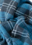 Recycled Wool Blanket in Ramsay Blue Tartan
