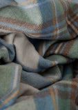 Recycled Wool Blanket in Stewart Muted Blue Tartan