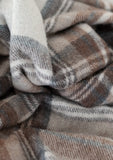 Recycled Wool Blanket in Stewart Natural Tartan