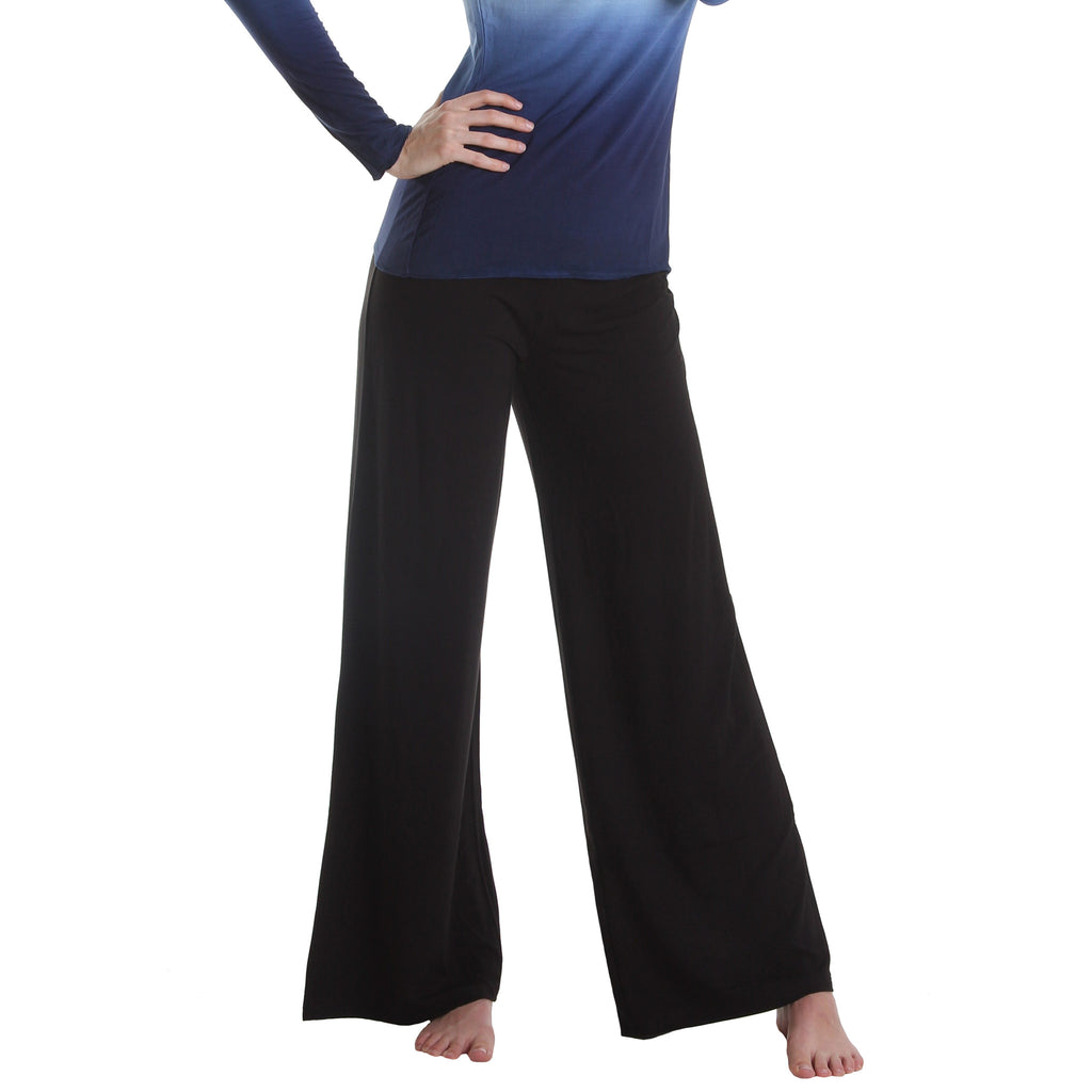 Sanibel Bamboo Rayon and Organic Cotton Wide Leg Pants (Regular and Tall Inseam)