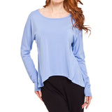 Belize Bamboo Rayon Top with Drop Shoulders and Hi Lo Hem (2 colors)
