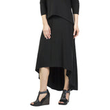 Ibiza Bamboo Rayon Skirt with Hi Lo Hem
