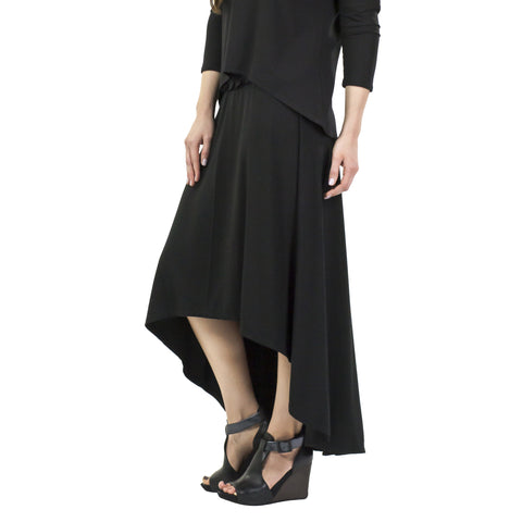 Ibiza Bamboo Rayon Skirt with Hi Lo Hem (2 colors)