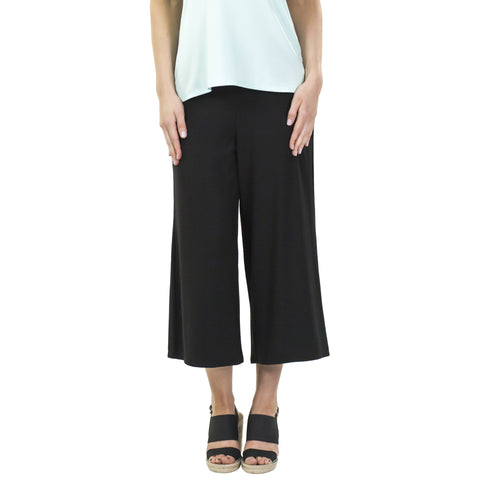 Aruba Wide Leg Cropped Bamboo Rayon Pants (3 colors)