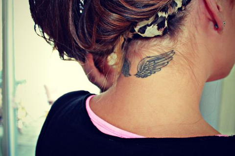 Small Tattoo Inspiration For Neck Undercuts Inkbox