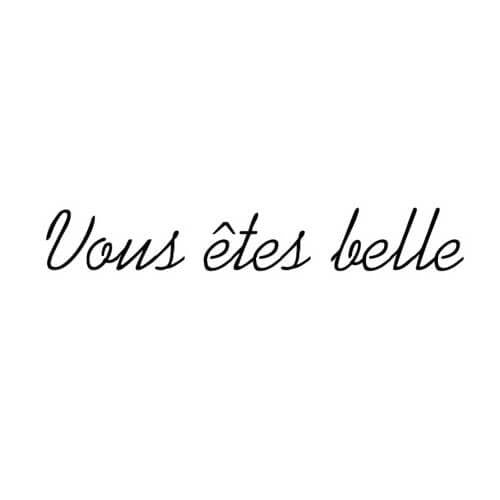 vous etes belle - inkbox temporary tattoo - 6