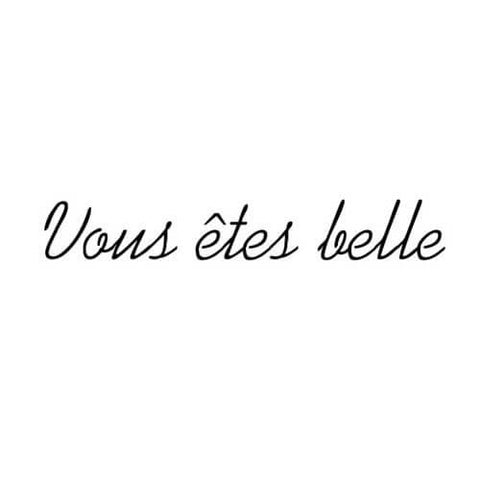 vous etes belle - inkbox tattoos - 4