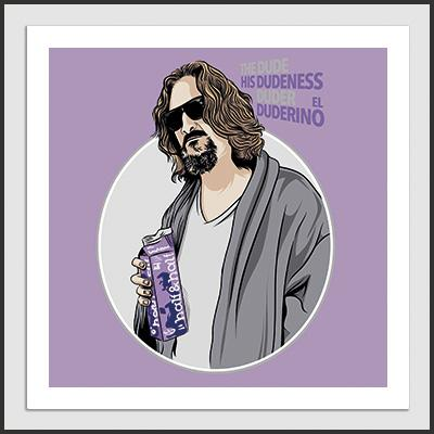 Impresos: ArtPrint Big Lebowski - The Dude Moda Tv y Cine