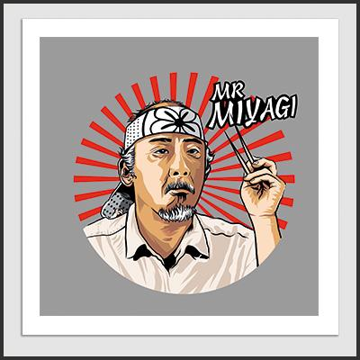 Impresos: Poster Karate Kid - Mr. Miyagi Tv y Cine Geek