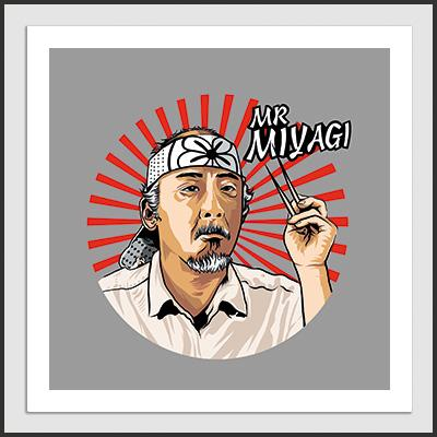 Impresos: ArtPrint Karate Kid - Mr. Miyagi Tv y Cine Geek