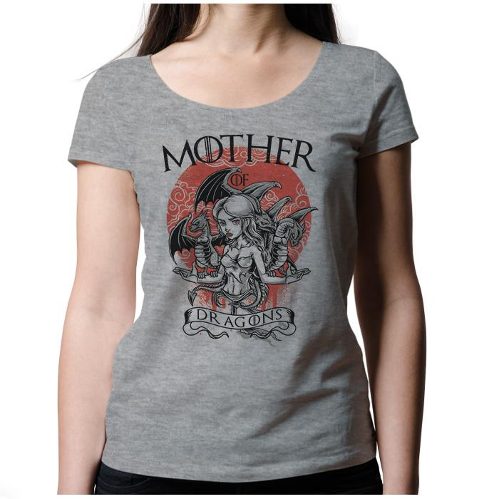 Ropa: Playera Mujer Mother Of Dragons - Game Of Thrones Geek Tv y Cine