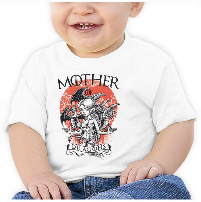 Ropa: Playera Bebé Mother Of Dragons - Game Of Thrones Geek Tv y Cine