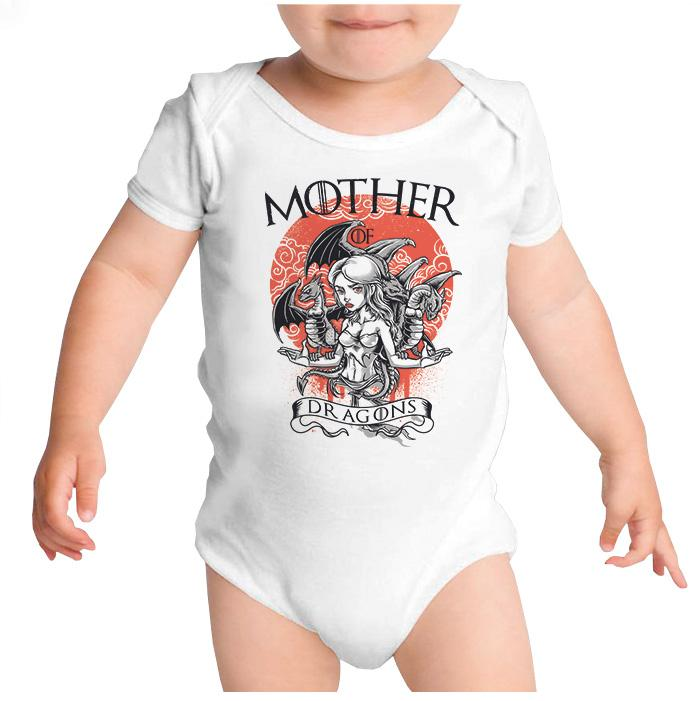 Ropa: Pañalero Body Bebé Mother Of Dragons - Game Of Thrones Geek Tv y Cine