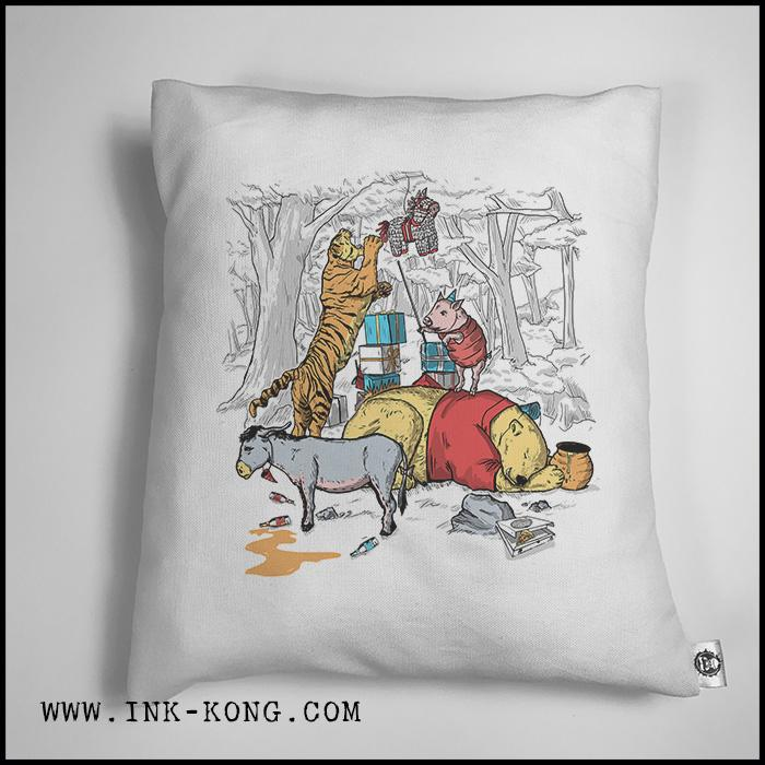 Accesorios: Cojín Decorativo Winnie The Pooh Borracho Humor Tv y Cine