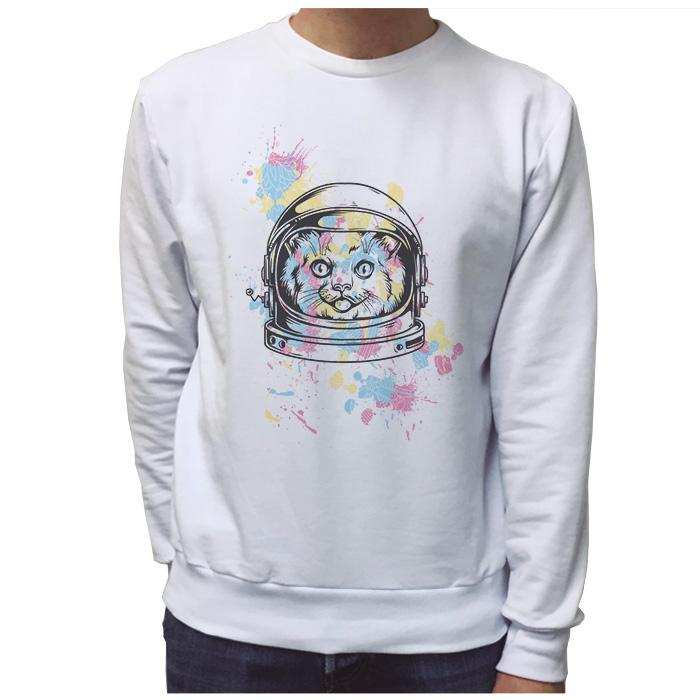 Ropa: Sudadera Unisex Space Cat Cute Animales