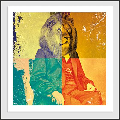 Impresos: Poster Freud the king Moda Animales