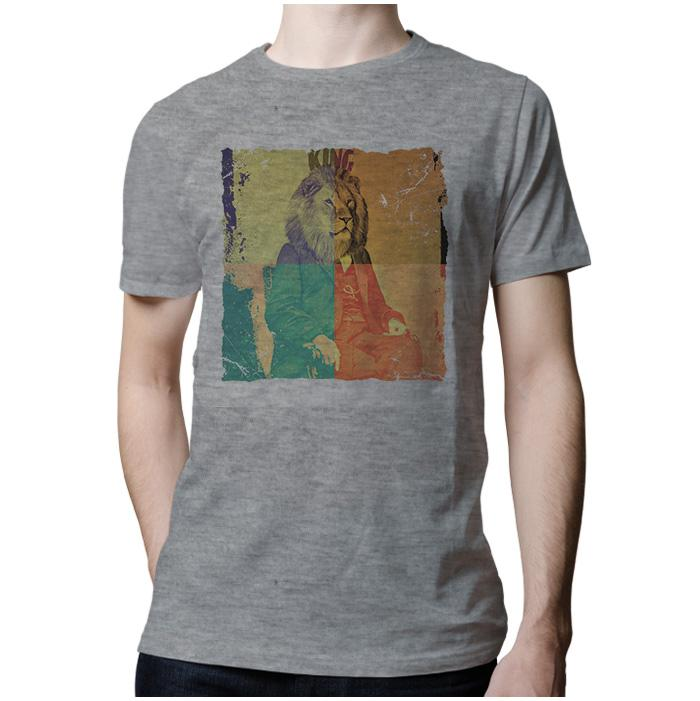 Ropa: Playera Hombre Freud the king Moda Animales