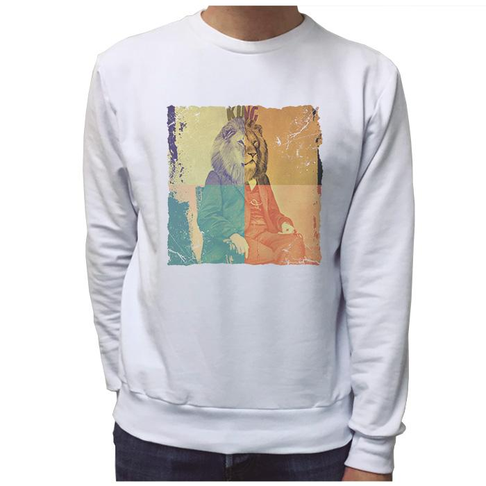 Ropa: Sudadera Unisex Freud the king Moda Animales