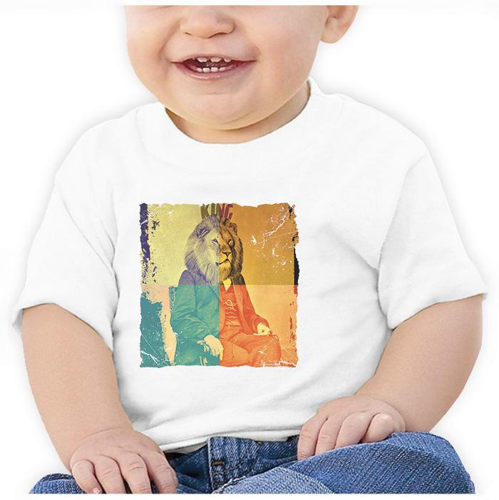 Ropa: Playera Bebé Freud the king Moda Animales