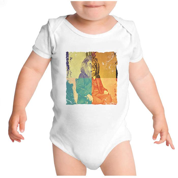 Ropa: Pañalero Body Bebé Freud the king Moda Animales