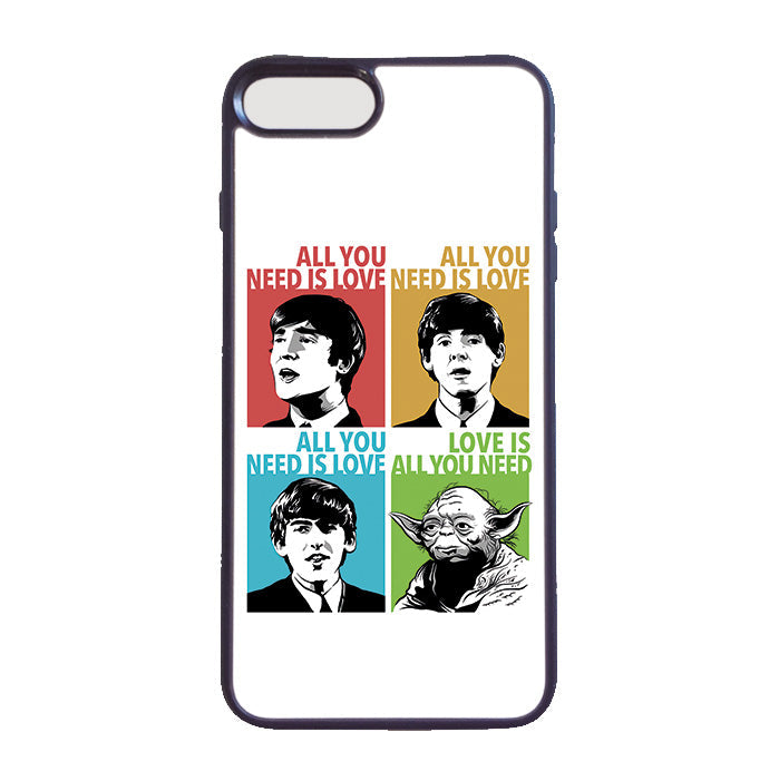 Accesorios: Funda Celular Beatles & Yoda: All You Need is Love Humor Música