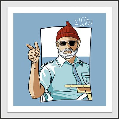 Impresos: ArtPrint The Life Aquatic - Steve Zissou Moda Tv y Cine