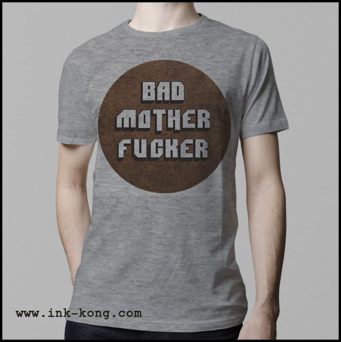 Ropa: Playera Hombre Pulp Fiction Tarantino Bad Mother Fucker Tv y Cine Personajes