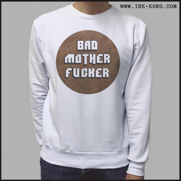 Ropa: Sudadera Unisex Pulp Fiction Tarantino Bad Mother Fucker Tv y Cine Personajes