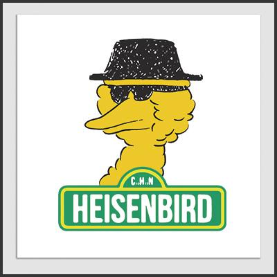 Impresos: Poster Breaking Bad y Big Bird Humor Tv y Cine