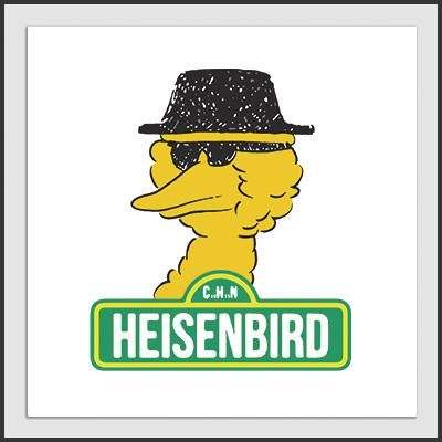 Impresos: ArtPrint Breaking Bad y Big Bird Humor Tv y Cine
