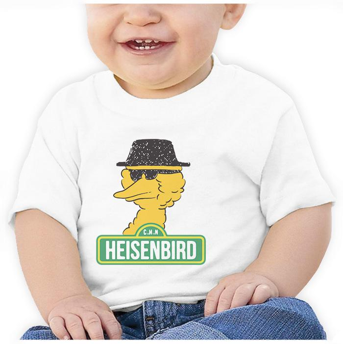 Ropa: Playera Bebé Breaking Bad y Big Bird Humor Tv y Cine