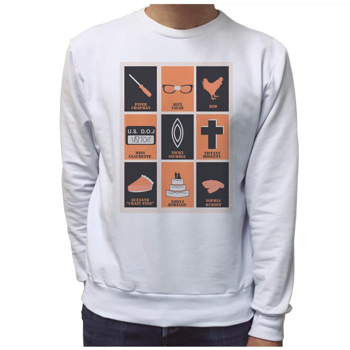 Ropa: Sudadera Unisex Diseños divertidos de Orange Is The New Black en México Ilustración Tv y Cine