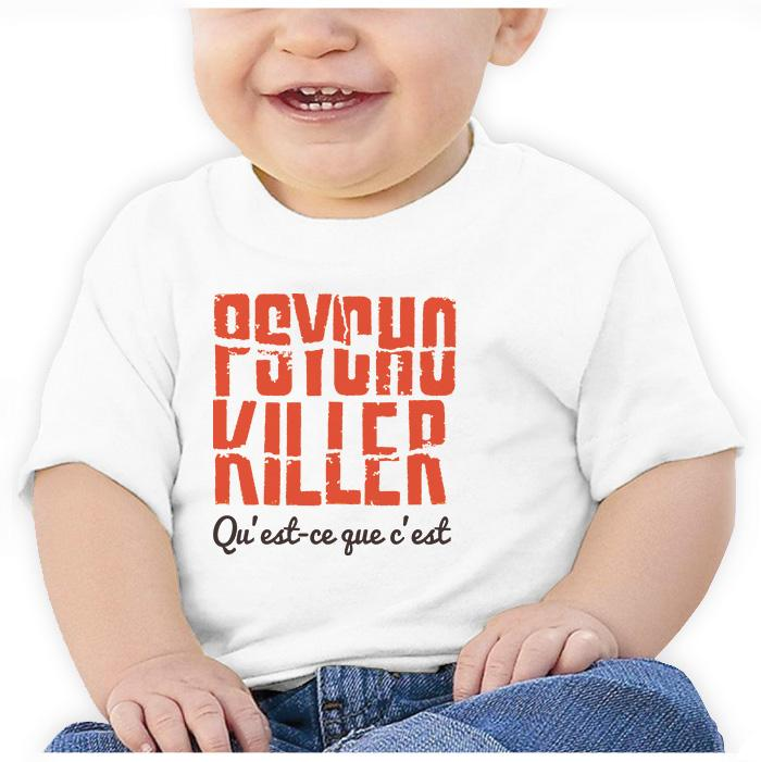 Ropa: Playera Bebé Talking Heads Psycho Killer Moda Frases