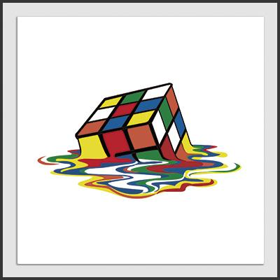 Impresos: ArtPrint Diseños de rubik y Sheldon Cooper de The Big Bang Theory Ilustración Geek