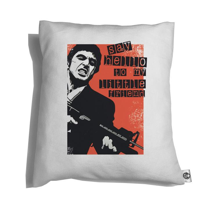 Accesorios: Cojín Decorativo Tony Montana: Say Hello To My Little Friend Tv y Cine Personajes