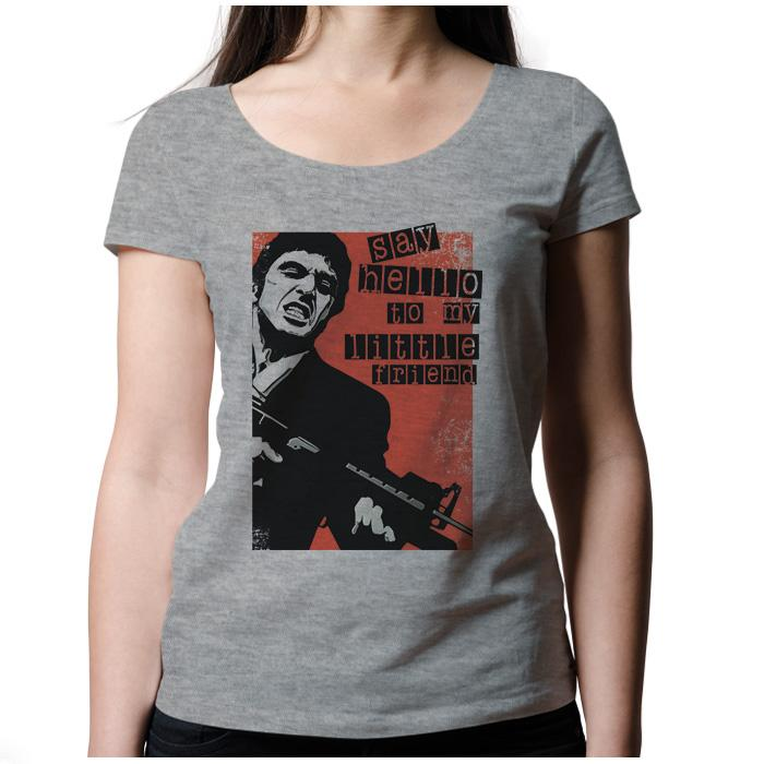 Ropa: Playera Mujer Tony Montana: Say Hello To My Little Friend Tv y Cine Personajes