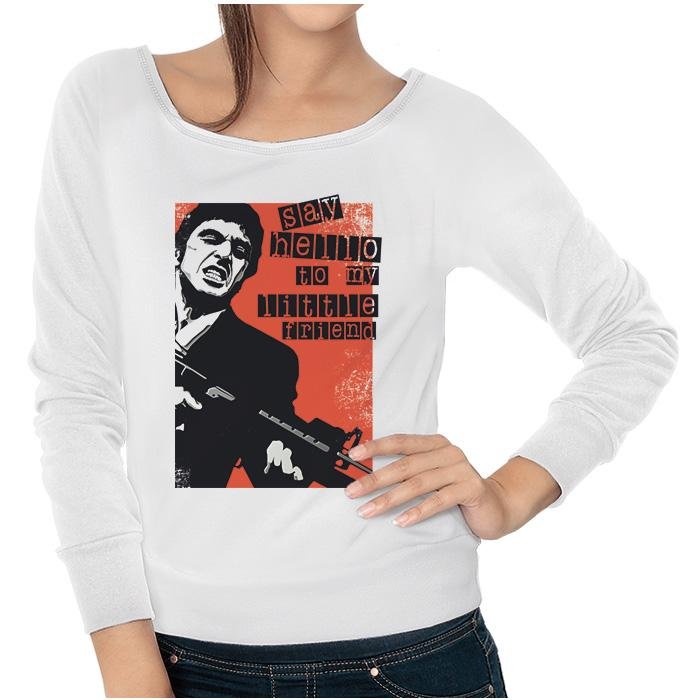 Ropa: Sudadera Mujer Tony Montana: Say Hello To My Little Friend Tv y Cine Personajes