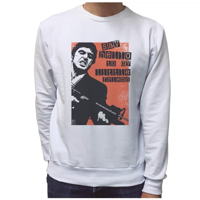 Ropa: Sudadera Unisex Tony Montana: Say Hello To My Little Friend Tv y Cine Personajes